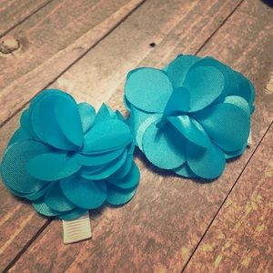 Other - Blue flower hair clips